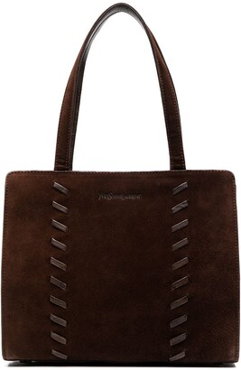 Yves Saint Laurent Pre-Owned Whipstitch-Detail Tote Bag