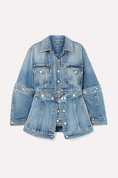 Alexander McQueen Convertible Denim Jacket - Blue