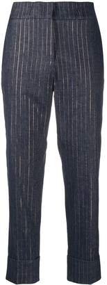 Peserico Striped Tailored Trousers