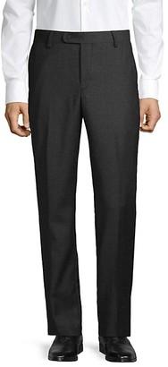 Saks Fifth Avenue Flat-Front Wool Pants