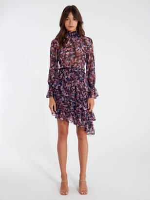 MISA Savanna Asymmetrical Midi Dress