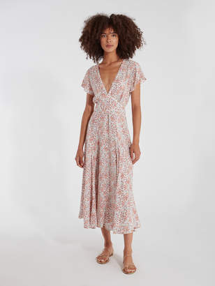 Auguste The Label Gemima Isla Reverse Wrap Midi Dress