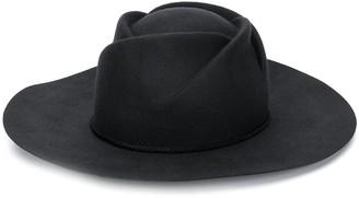 Emporio Armani Rope-Detail Fedora Hat