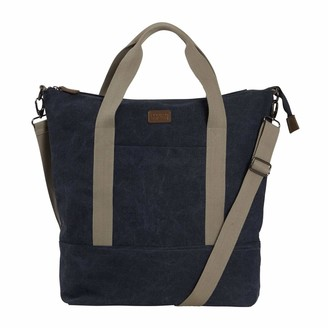 Weird Fish Kingham Canvas Holdall Navy Size ONE
