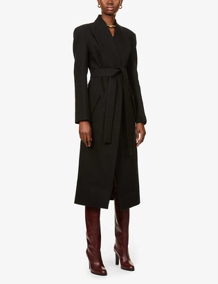 MATÉRIEL Double-breasted belted cotton coat