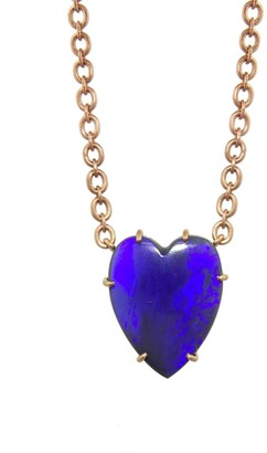 Irene Neuwirth 10.83 Carat Opal Heart Rose Gold Necklace