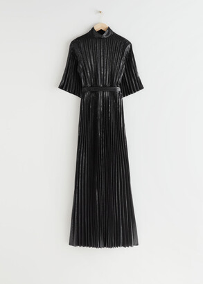 And other stories Belted Pleated Maxi Dress