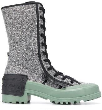 Marco De Vincenzo x Superga glitter boots