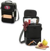 Picnic Time Duet Wine & Cheese Tote - San Francisco 49ers Digital Print - Black