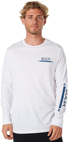 RVCA Upperscore Ls Mens Tee White