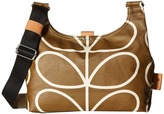 Orla Kiely Matt Laminated Giant Linear Stem Print Mini Sling Bag