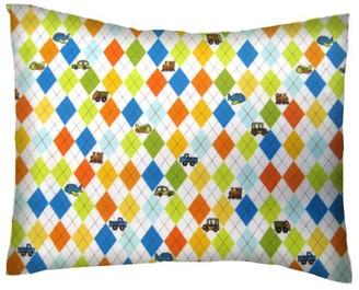 Sheetworld SheetWorld Twin Pillow Case - Argyle Transport
