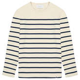 Solid & Striped The Long Sleeve Island Cream and Blue Stripe Knit