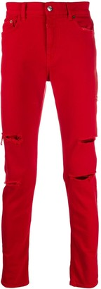 Buscemi Distressed Slim-Fit Jeans