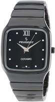 Peugeot Swiss Ladies Square Black Ceramic Watch Ps4899bk