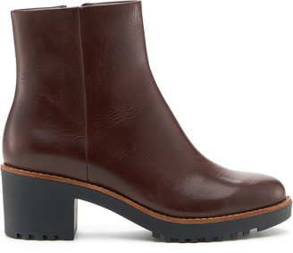 Botkier Brynn Leather Zip Ankle Booties