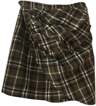 Birgitte Herskind Khaki Cotton Skirt for Women