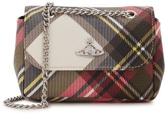 Vivienne Westwood Derby tartan-print faux leather shoulder bag