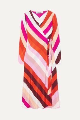 Diane von Furstenberg Tilly Silk Crepe De Chine Wrap Dress - Pink