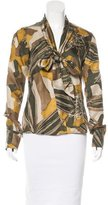 Rachel Zoe Printed Button-Up Top