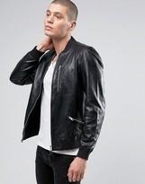 Allsaints Allsaints Leather Bomber Jacket