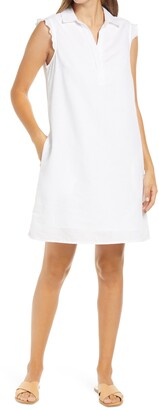 BeachLunchLounge Leandrina Polo Collar Linen & Cotton Shift Dress