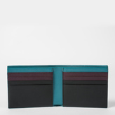 Paul Smith Men's Black Saffiano Leather Colour Band Interior Billfold Wallet