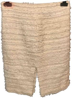 Loewe Ecru Tweed Skirt for Women Vintage