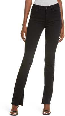 Paige Constance High Waist Long Split Hem Slim Jeans