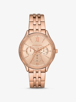 Michael Kors Oversized Benning Rose Gold-Tone Watch