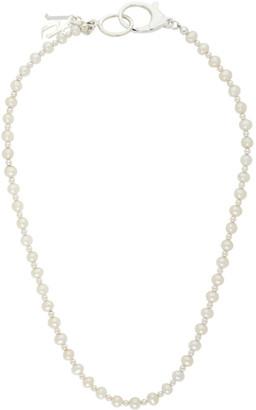 Hatton Labs SSENSE Exclusive Silver Classic Pearl Chain Necklace