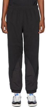 adidas Black Polar Fleece Big Trefoil Lounge Pants