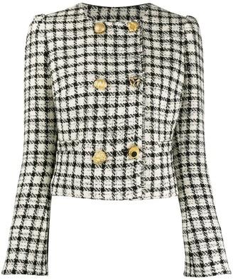Pinko Check Boucle Tweed Jacket