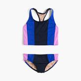 J.Crew Girls' vertical colorblock tankini set