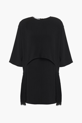 Stella McCartney Fringed Layered Crepe Mini Dress