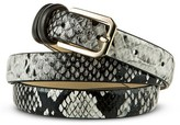 Merona Women's Black Snake Skin Print Belt - XL