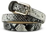 Merona Women's Black Snake Skin Print Belt - XL
