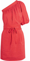 Vanessa Bruno Grace One-shoulder Voile Mini Dress - Red