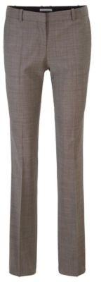 HUGO BOSS - Regular Fit Pants In Patterned Italian Wool - Patterned