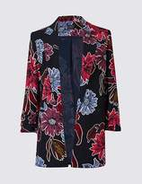Marks and Spencer Floral Print Ruched Blazer