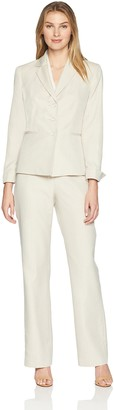 Le Suit LeSuit Women's Stripe 3 BTN JKT Notch Collar Pant