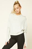 Forever 21 FOREVER 21+ Active Dolman Hooded Sweatshirt