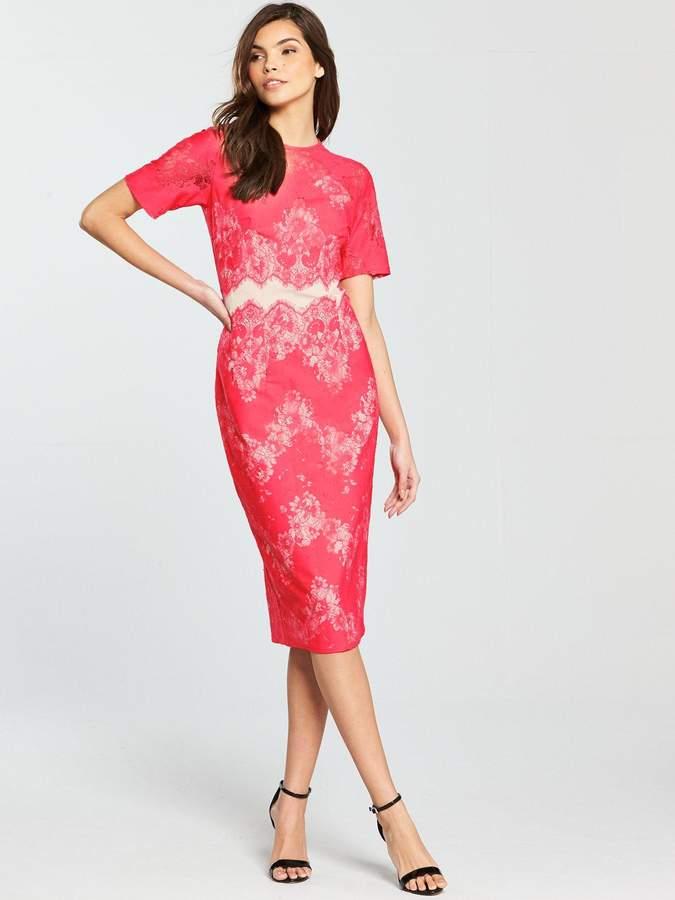 ef008da8466c Little Mistress Pink Lace Dresses - ShopStyle UK