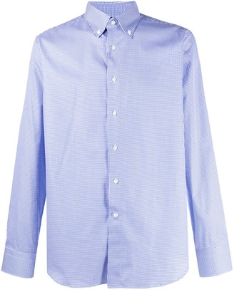Canali Gingham Check Shirt
