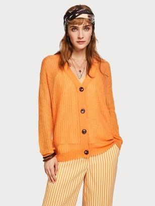 Maison Scotch Wool Knit Cardigan - XS / 1660 - Amber