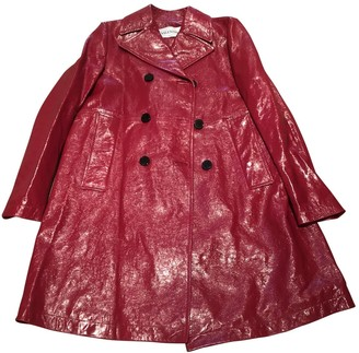 Valentino Red Leather Coat for Women