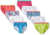 Fruit of the Loom Little Girls' Cotton Low-Rise Brief (Pack of 9)