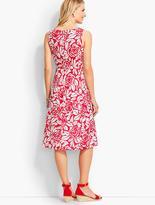 Talbots Rose-Silhouette Dress