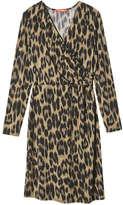 Joe Fresh Women's V-Neck Wrap Dress, Dark Blue (Size L)