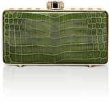 "Bougeotte Titanium ""Best Secret Keeper"" Clutch in Green Crocodile"